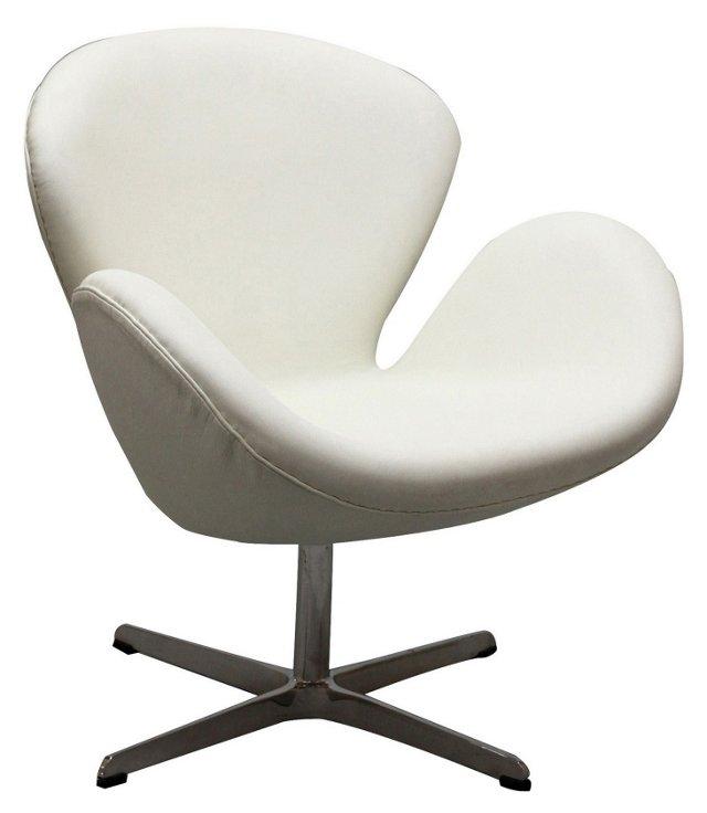 DNU, IK-Mott Wing Chair, White