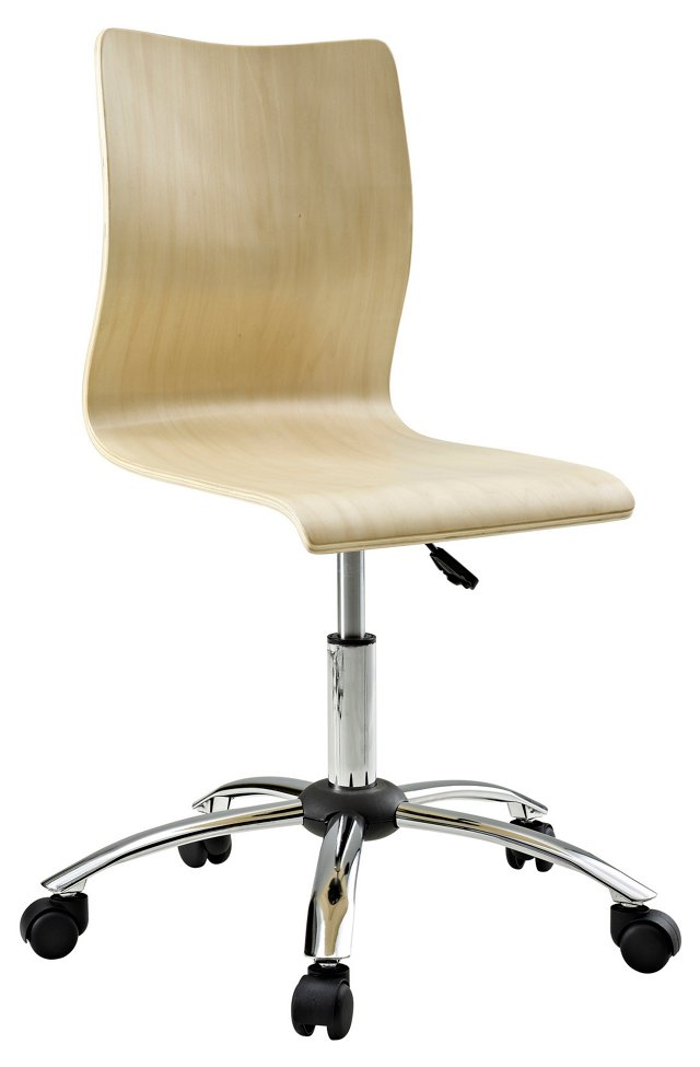 Lawson Swivel Chair, Natural/Silver
