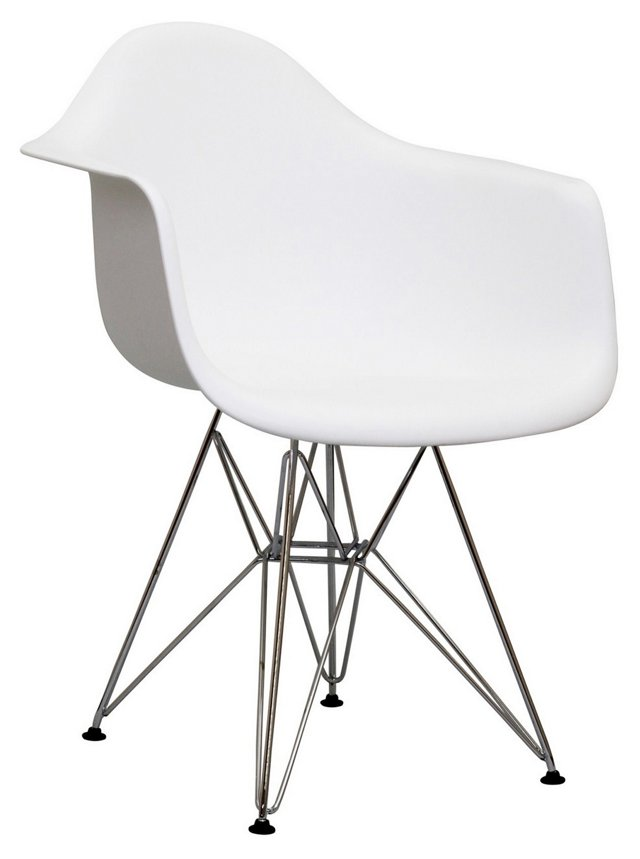 *IK Paris Wire Armchair, White