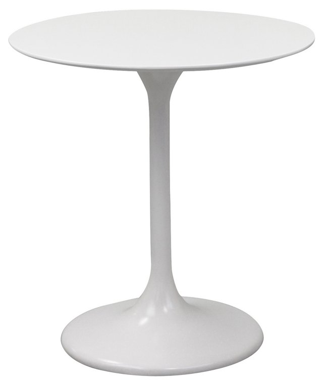 "*IK 28"" Lippa White Table, Fiberglass"