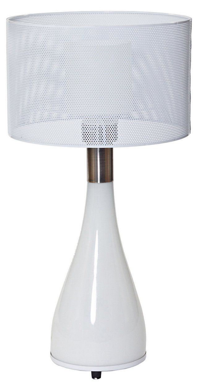 Mushroom Table Lamp, White