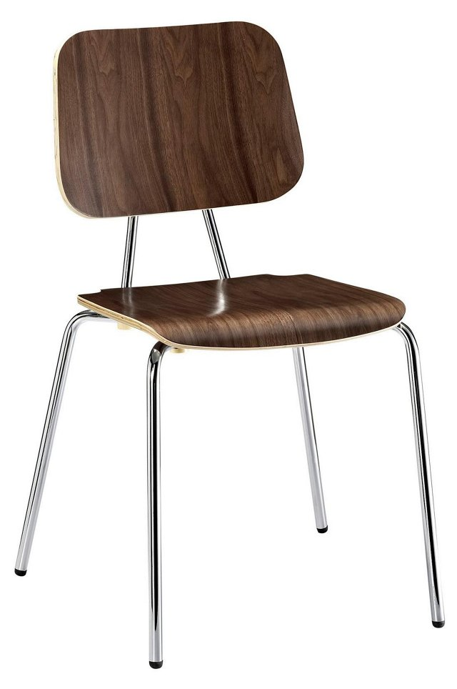 *IK Fathom Dining Chair, Walnut