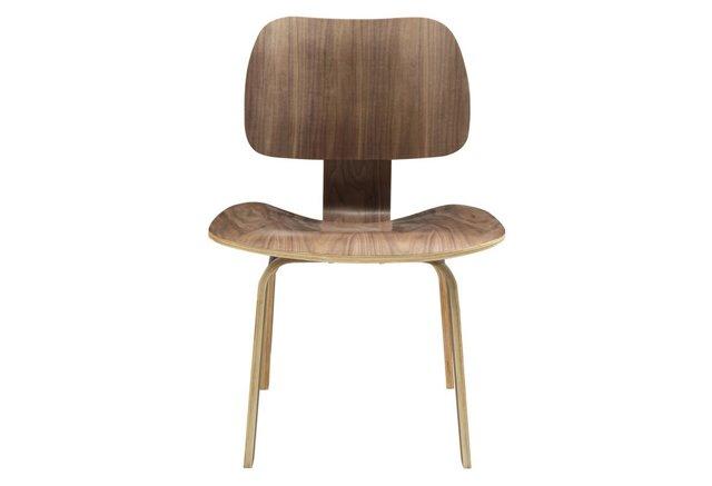 *IK Fathom Plywood Dining Chairs, Walnut