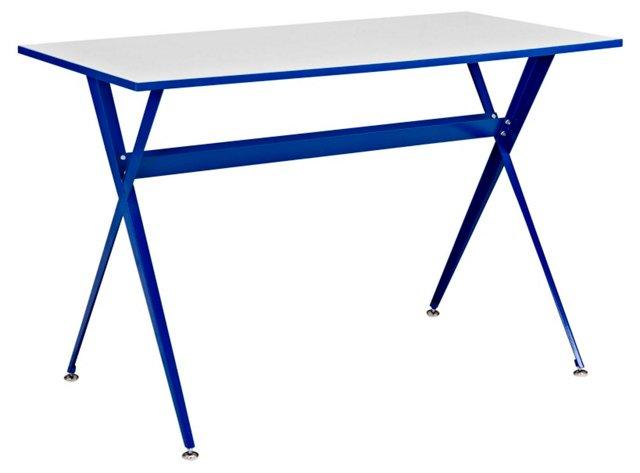 "Sarah 23.5"" Desk, Blue"
