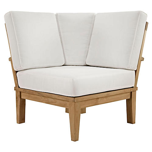 Kat Outdoor Corner Sofa, White