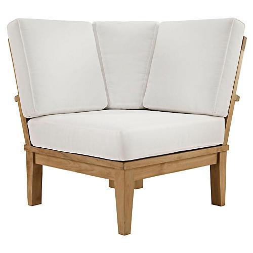 Kat Outdoor Corner Sofa, White
