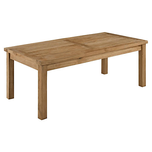 Claire Rectangle Coffee Table, Teak