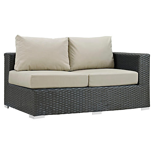 Hayden Right-Arm Loveseat, Beige