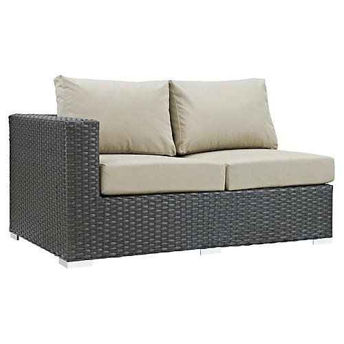 Hayden Left-Arm Loveseat, Beige