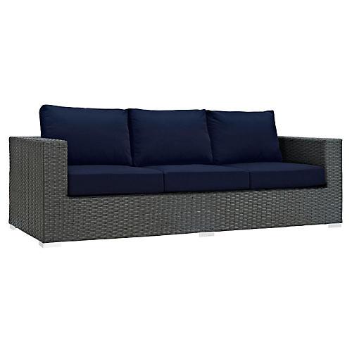 """Hayden 88"""" Sofa, Navy"""