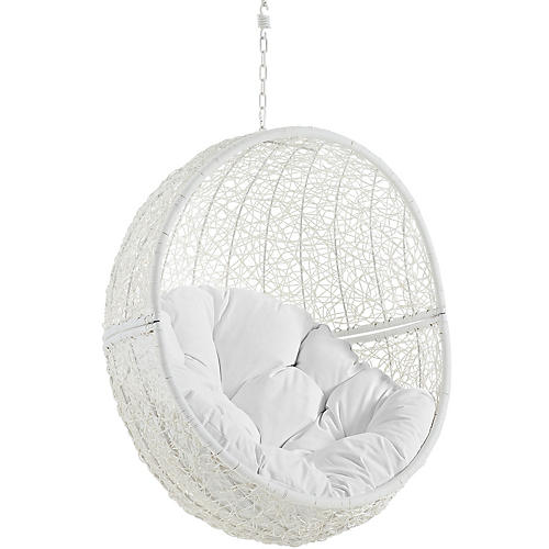Hide Outdoor Porch Swing, White
