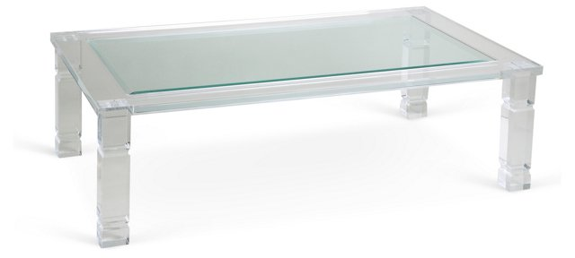 Bella Coffee Table, Clear