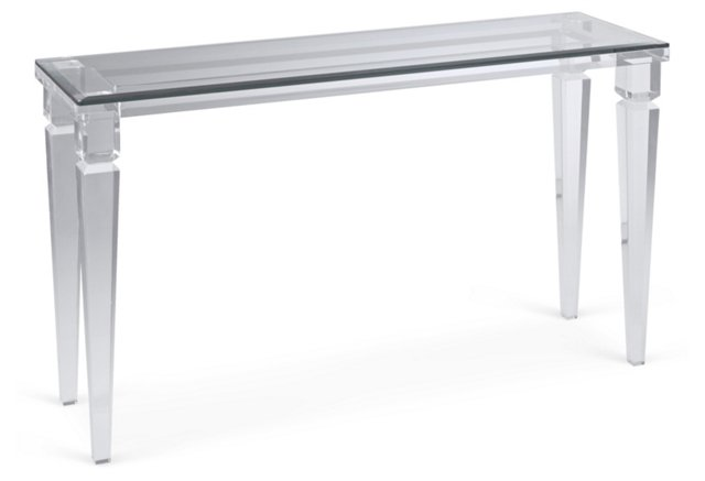 Andorra Console Table, Clear