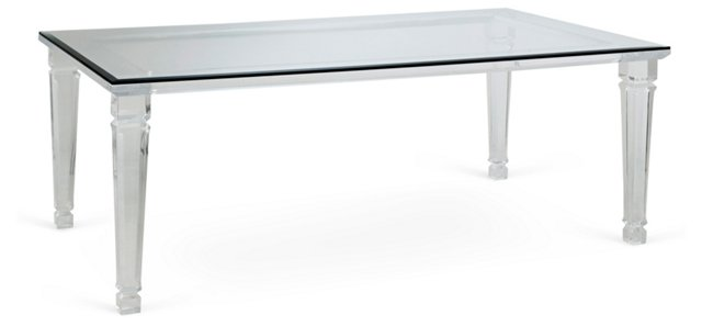 Sula Dining Table, Clear