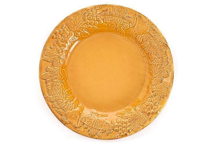 S/4 Dinner Plates, Yellow