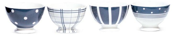 S/4 Asst. Dots & Stripes Cereal Bowls