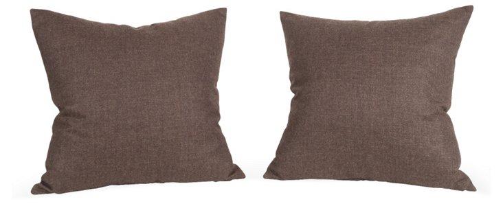 Pollack Wool Pillows, Pair