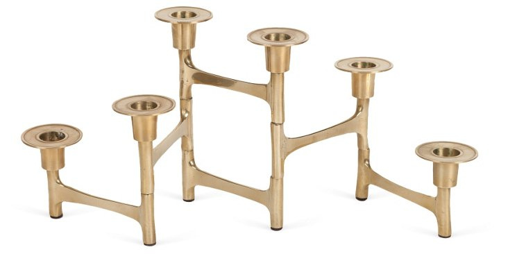 Brass Accordion Candleholder
