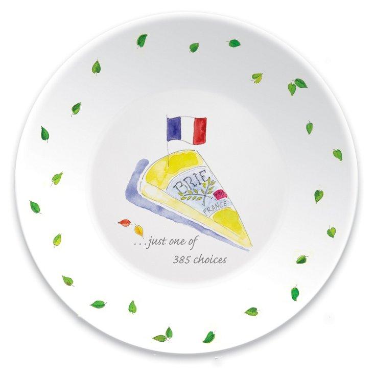 S/6 Porcelain Paris Tid-Bit Plates, Brie