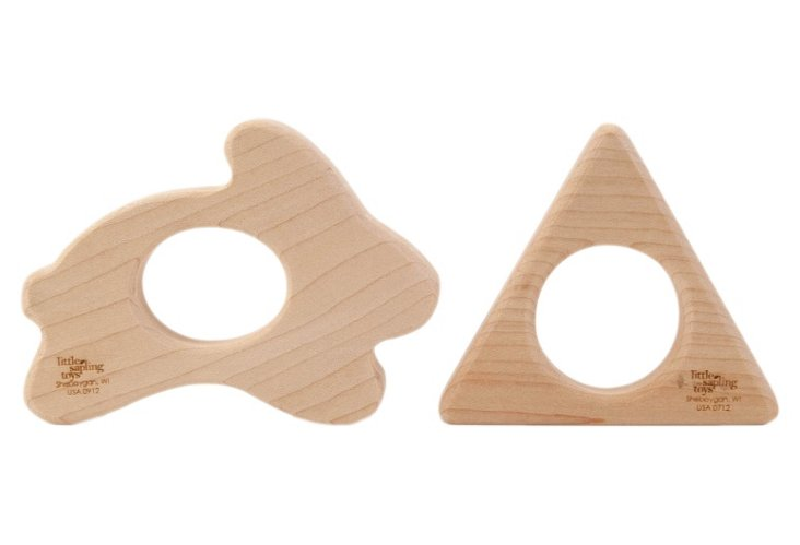 Triangle and Bunny Teether Set