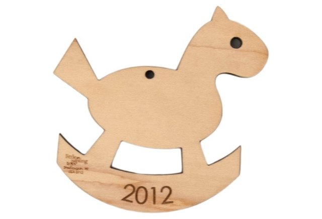 Rocking Horse Ornament, Maple