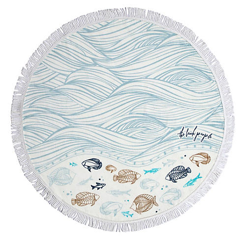 Oceanic Petite Beach Towel, Multi