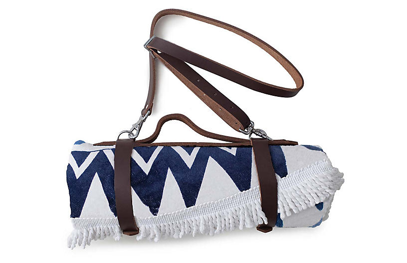 Leather Strap Carrier - Brown - The Beach People