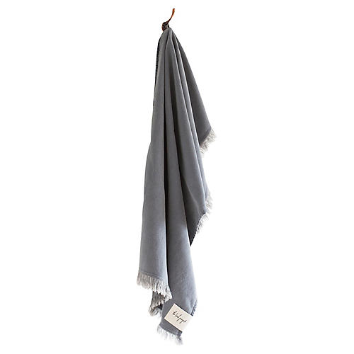 Stonewashed Cotton Hand Towel, Ash
