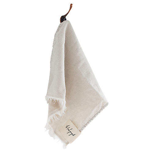 Stonewashed Cotton Washcloth, Clay
