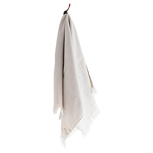 Stonewashed Cotton Hand Towel, Clay