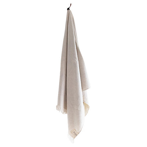 Stonewashed Cotton Bath Towel, Clay