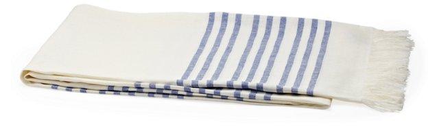Linen Blanket, Periwinkle