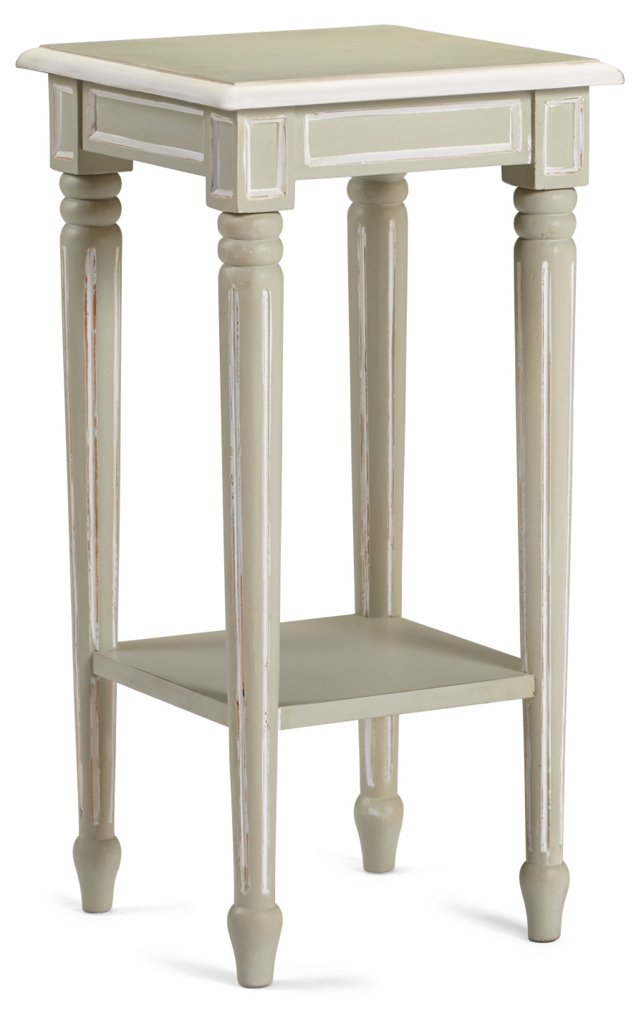 Renwick End Table, Gray/White