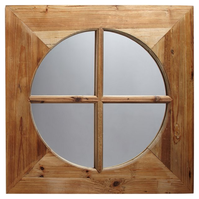 Burke Recycled Fir Wall Mirror, Oak