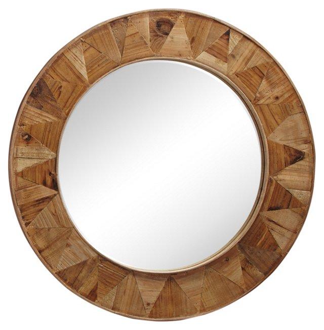 Watson Wall Mirror, Oak