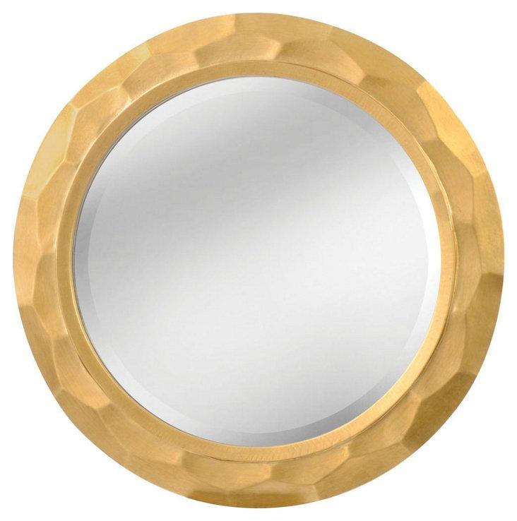 Volga Wall Mirror, Gold Mist