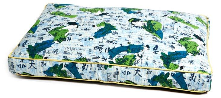 Geisha Pet Bed, Blue/Multi