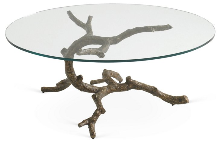 "Lone Cypress 44"" Oval Coffee Table"