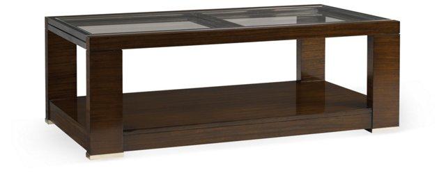"Aura 52"" Extension Coffee Table, Walnut"