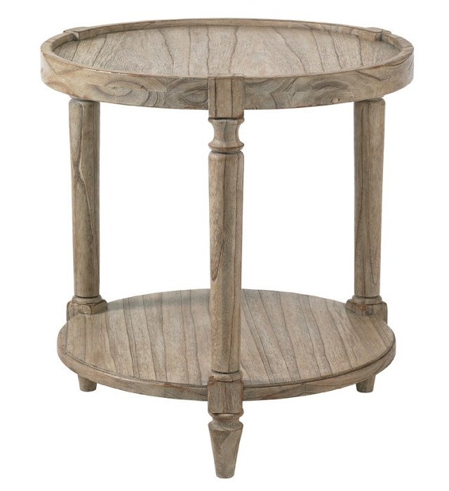 "Phoebe 25"" Round Side Table, Driftwood"