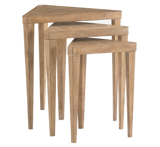 Cupertino Triangular Nesting Table Trio