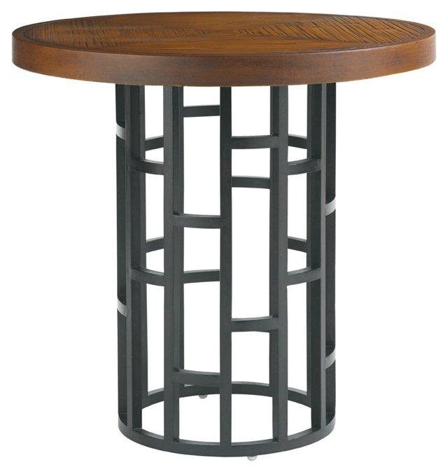 """Sampson 38"""" Round Bistro Table, Sienna"""