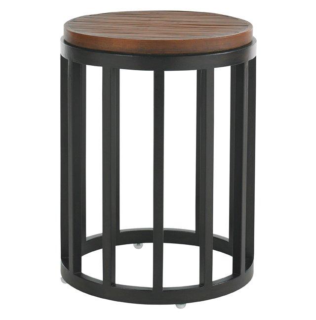 "Wells 17"" Round Side Table, Sienna"