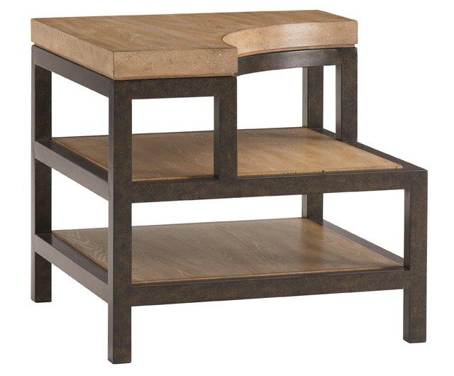 Tehama 3-Tier Side Table, Sand