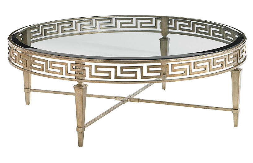 Deerfield Round Coffee Table, Gold