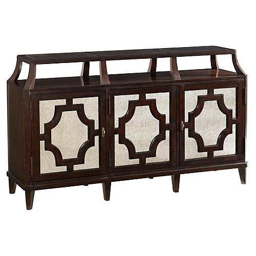 "Wellshire 71"" Mirrored Sideboard, Brown"