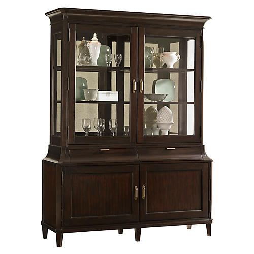 "Grove Park 68"" Display Cabinet, Brown"