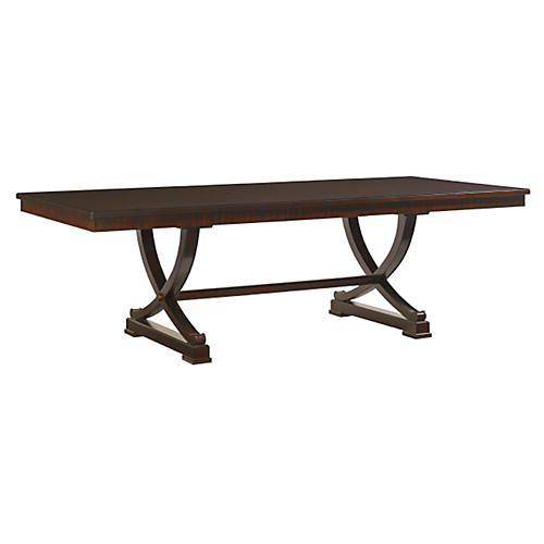 "Westwood 80-116"" Extension Dining Table, Brown"