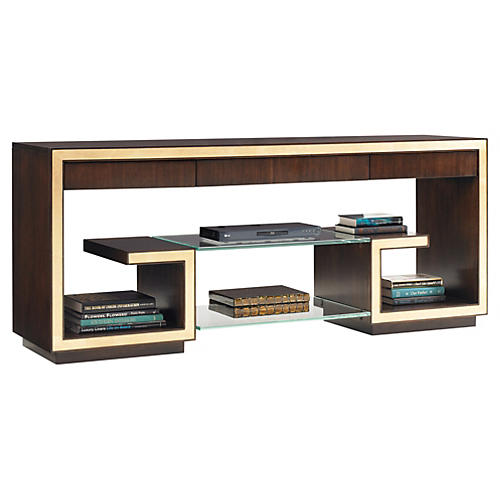 Rodeo Greek Key Media Console