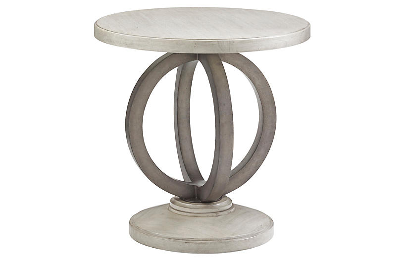 Hewlett Round Side Table, Oyster